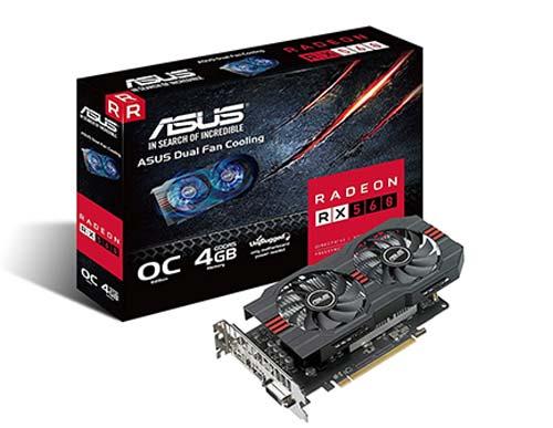 ASUS Radeon RX 560 4GB EVO OC Edition GDDR5 Graphics Card