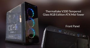 Thermaltake V200 Tempered Glass RGB Edition Capable ATX Mid-Tower