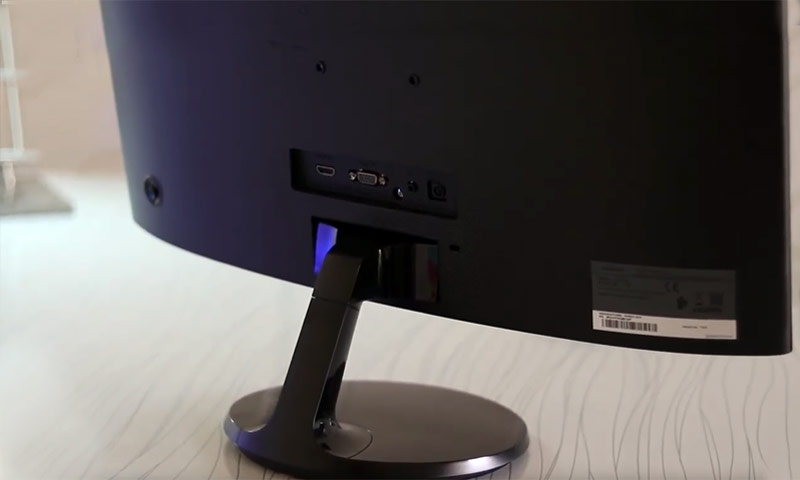Samsung 24-inch Curved LED Gaming Monitor Back View