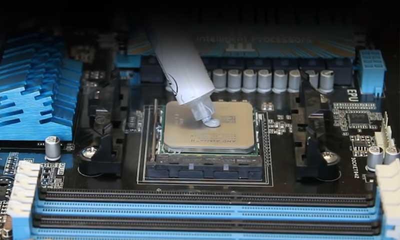 Apply CPU thermal paste